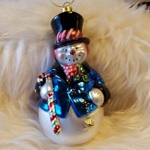 Other - Hand Blown Glass Snowman Ornament